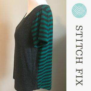 Tart Burrowes Solid & Striped Short Sleeve Shirt